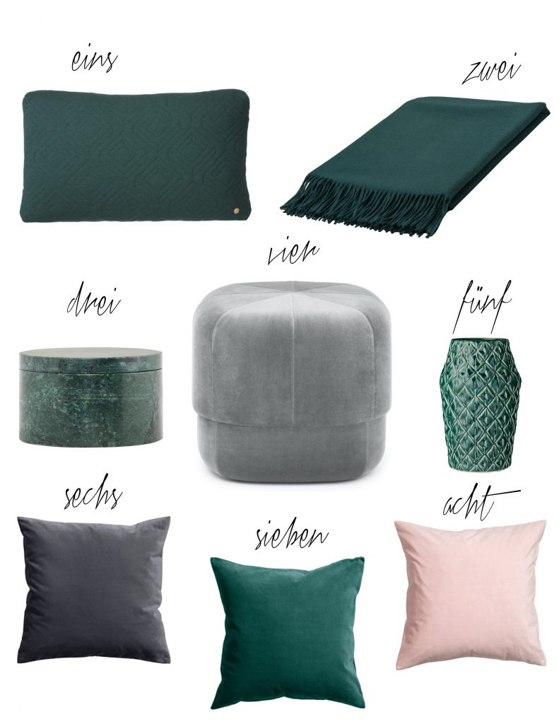 Dark Green Samt Velvet Interior Trend