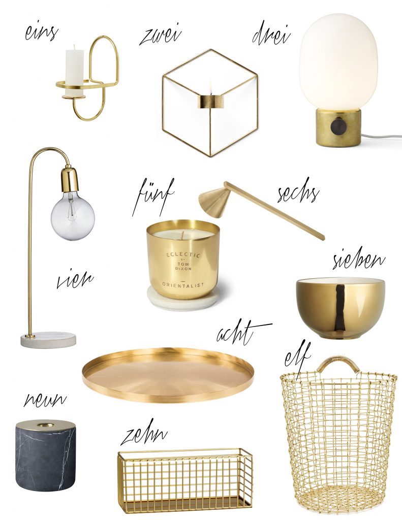 Messing Interior Trend Brass