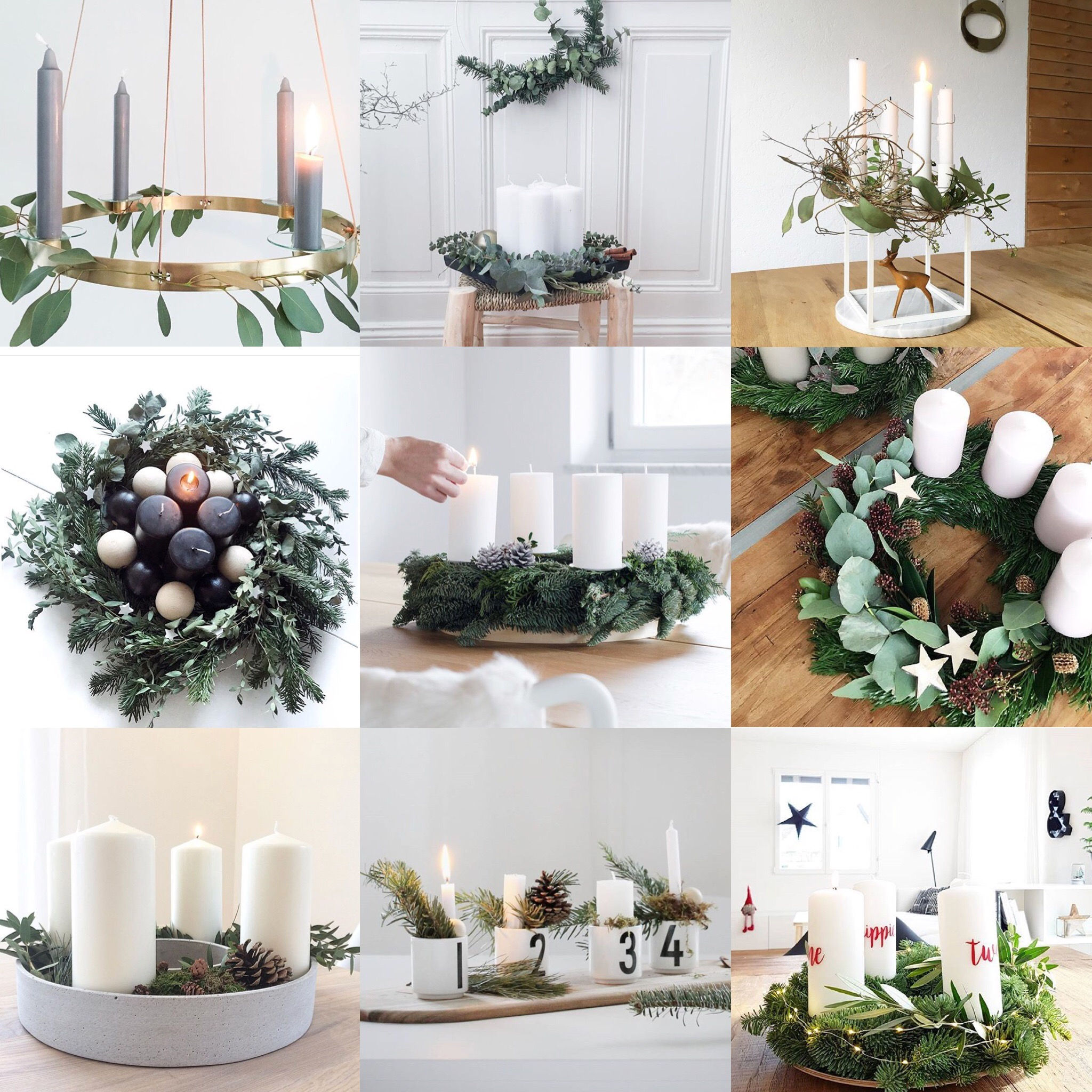 Adventskranz Inspiration #zeigdein_traumzuhause