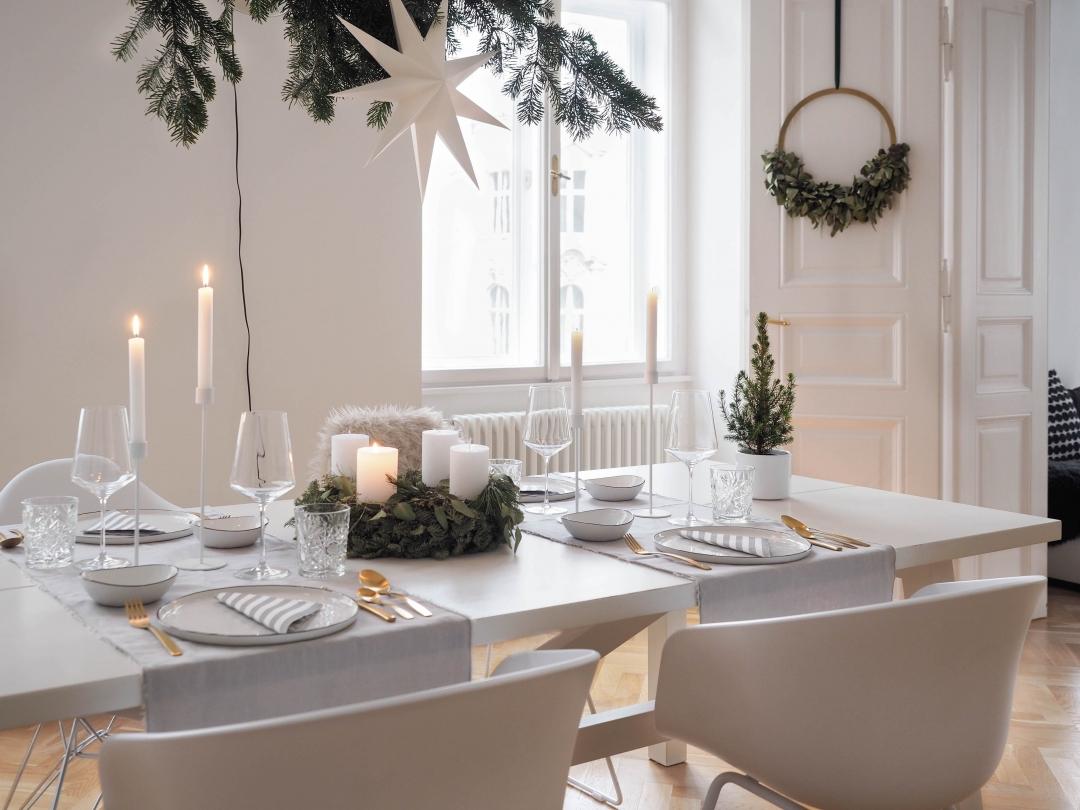Scandinavian Christmas Table Setting Cooee Candleholder Weihnachtstisch Traumzuhause