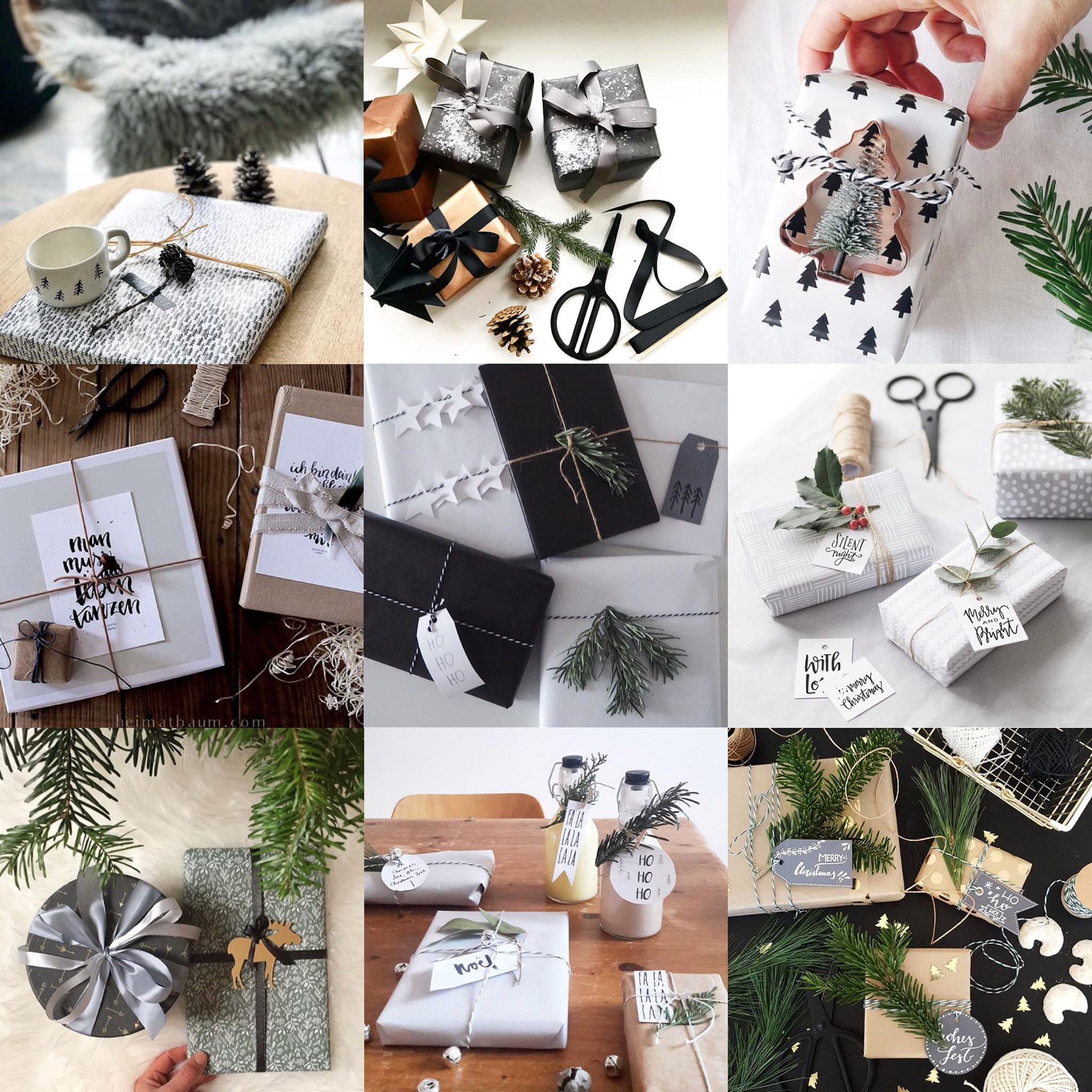 #zeigdein_traumzuhause Instagram Winterchallenge Weihnachtschallenge Schön verpackt Giftwrapping Geschenke verpacken