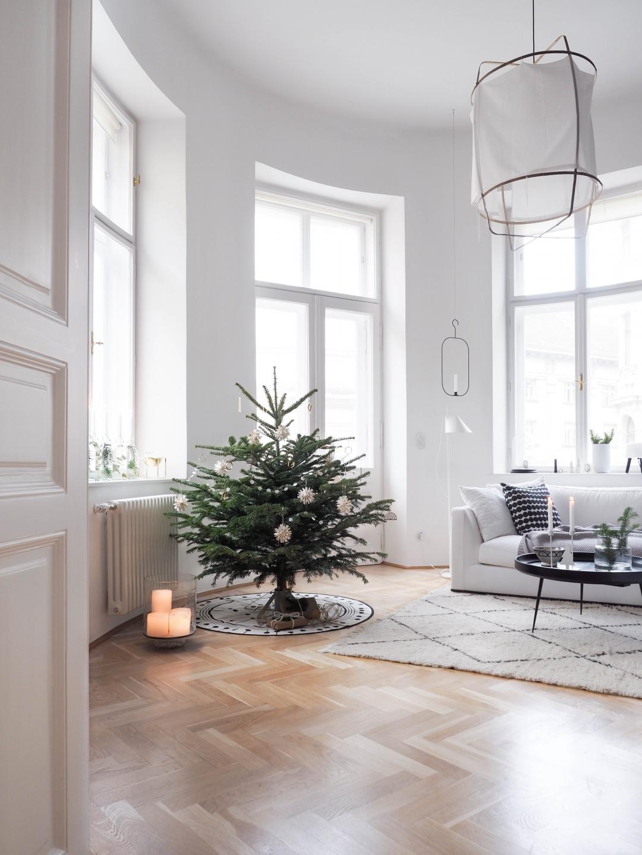 Weihnachtsbaumschmuck Skandinavisch Weiß Messing Ferm Living Weihnachtsbaum