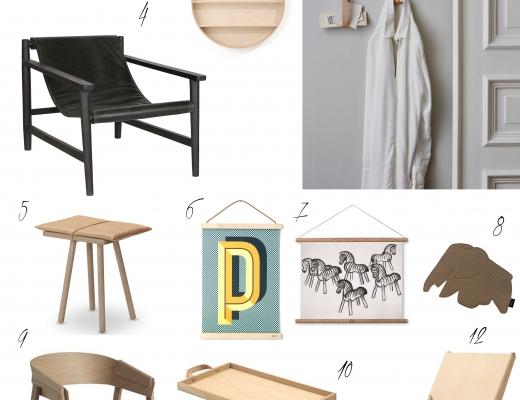 Möbel und Accessoires aus Leder und Holz