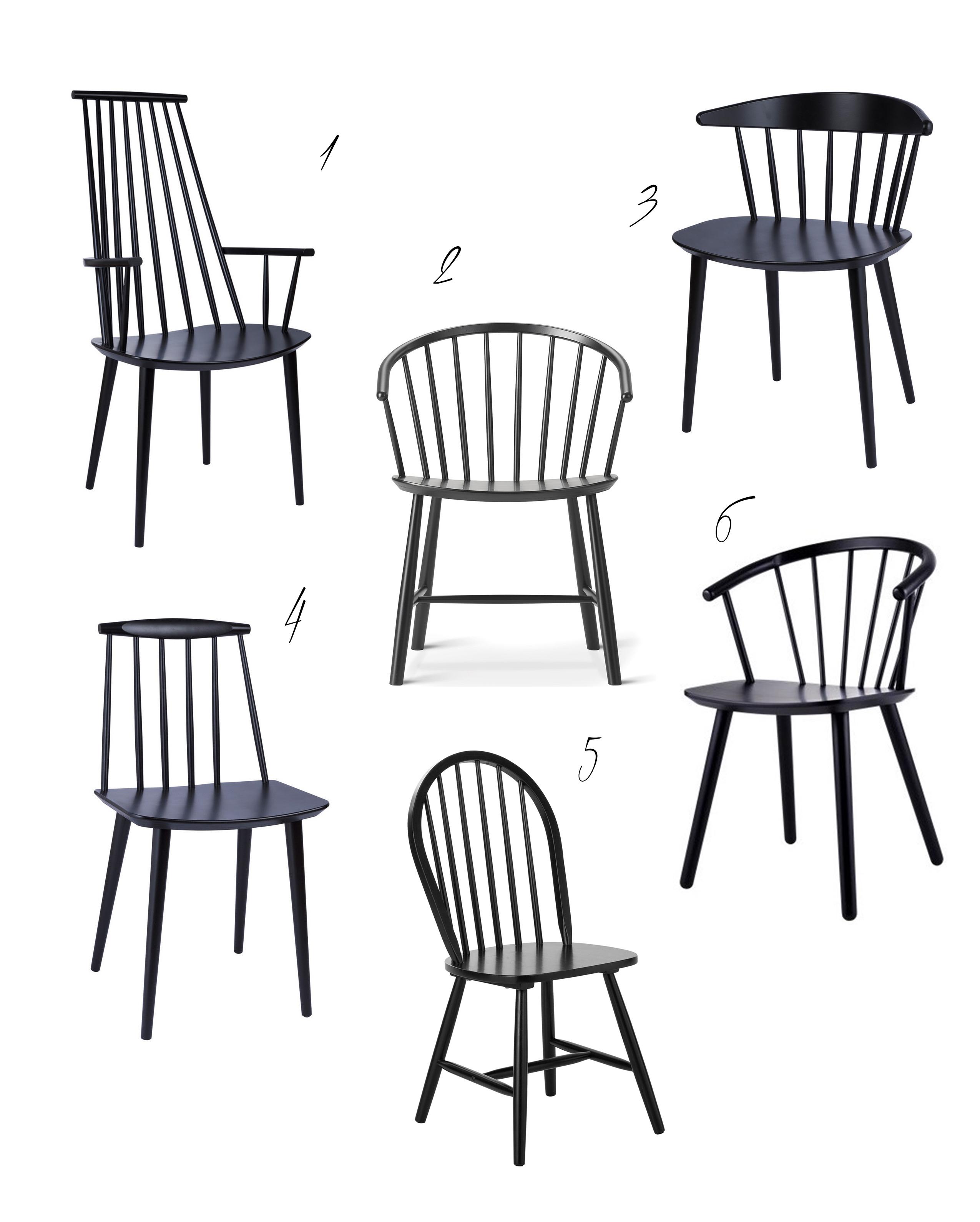 schwarze windsorst hle st bchen st hle. Black Bedroom Furniture Sets. Home Design Ideas